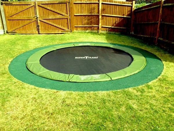 Safer In-Ground Trampoline