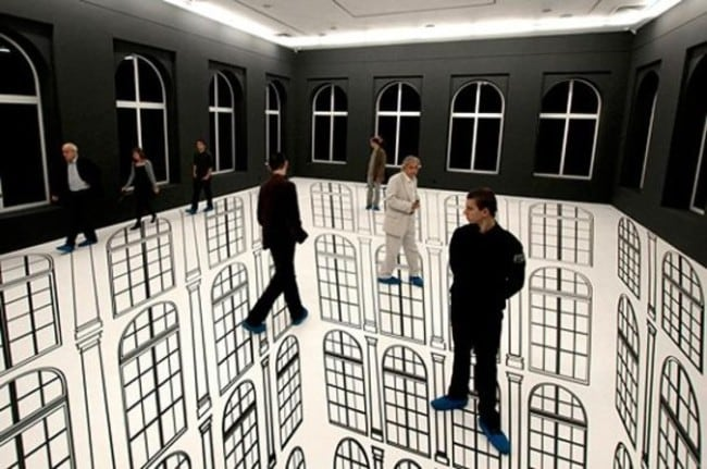 3D painted room