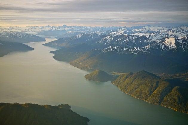 Taku Inlet and Harris Glacier