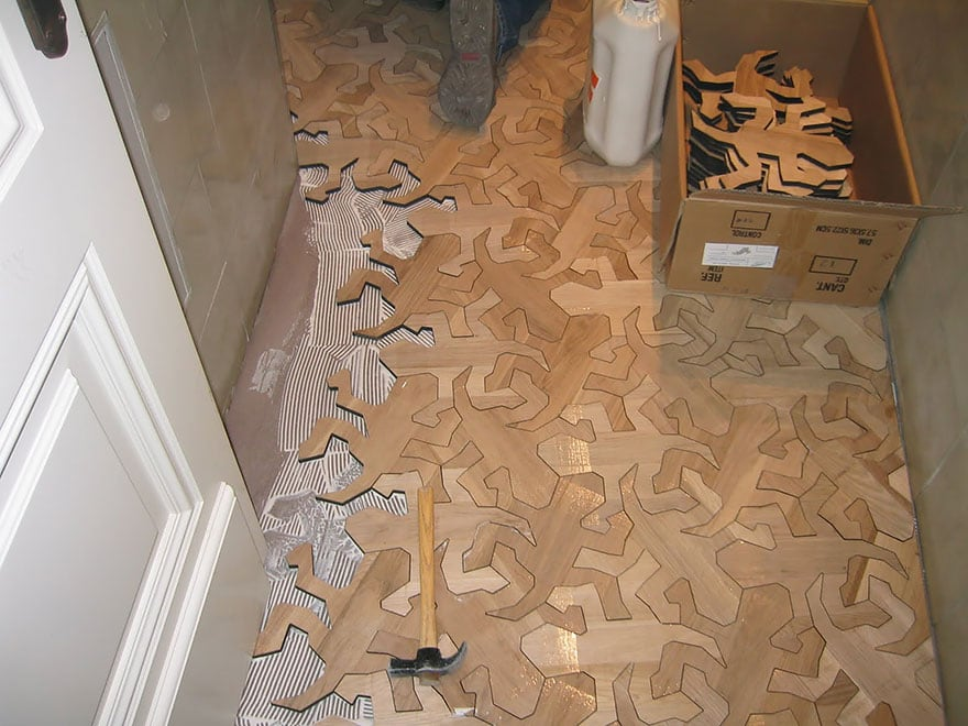 Floor made of ikea man like parts