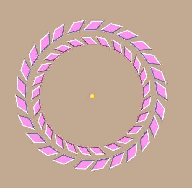 Rotating pink rings