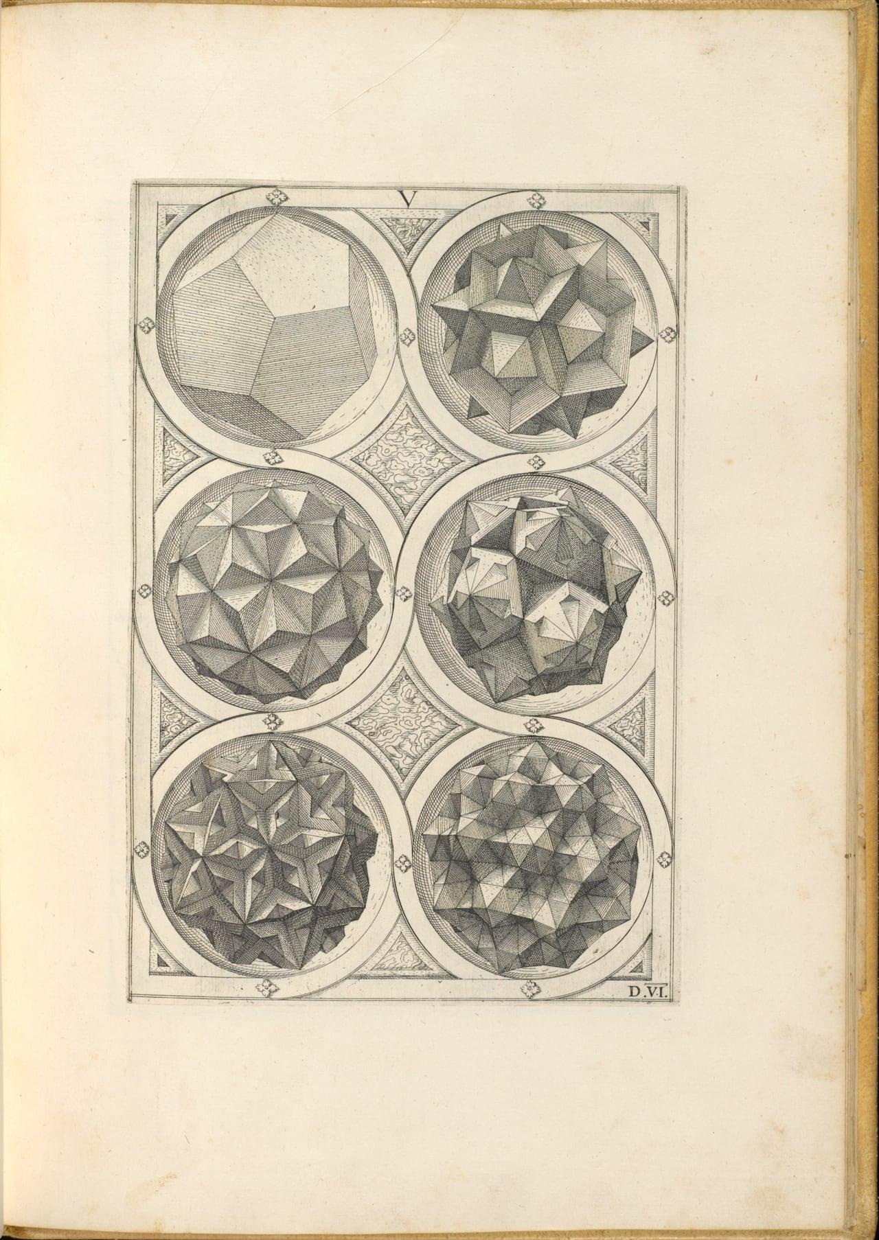 Page from Wenzel Jamnitzer's 'Perspectiva corporum regularium'