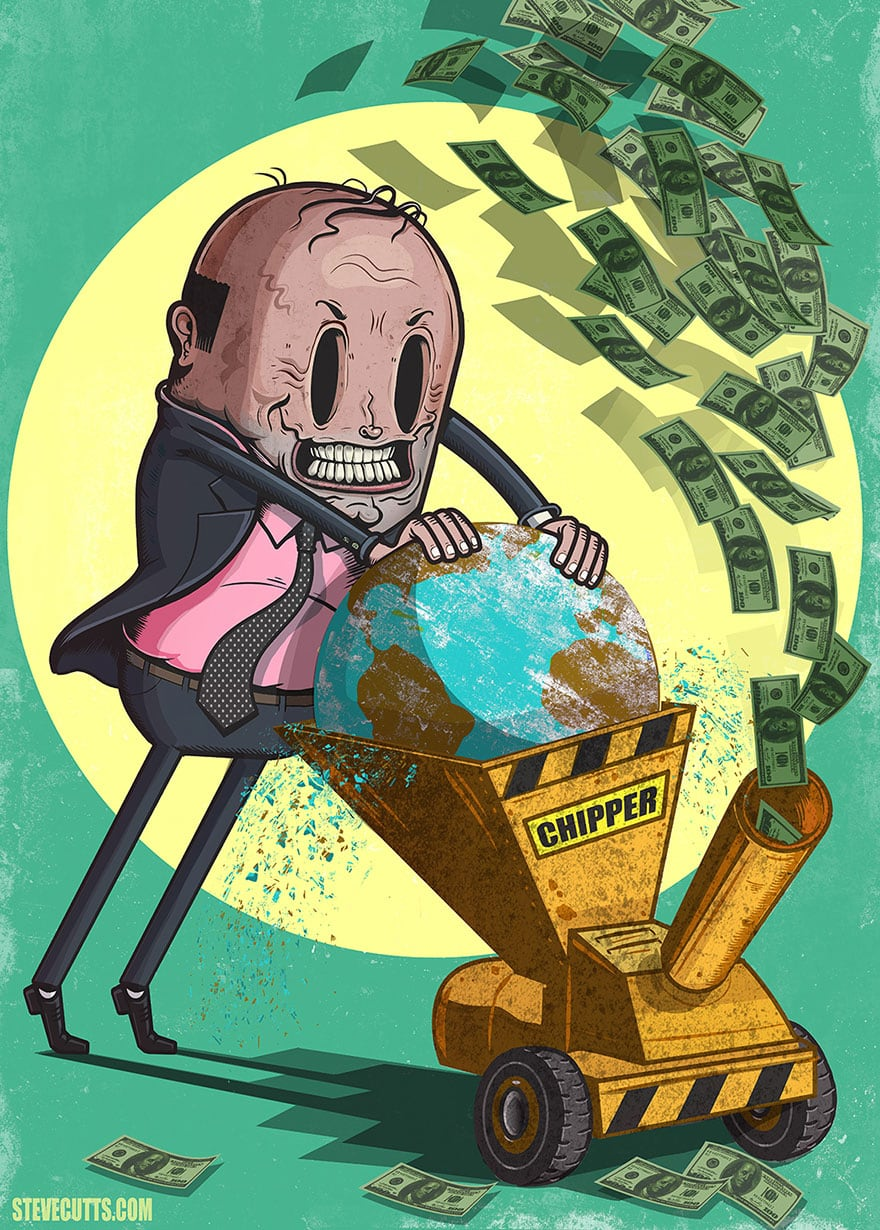 Sad Truth About Modern World Illustrated By Steve Cutts | FreeYork