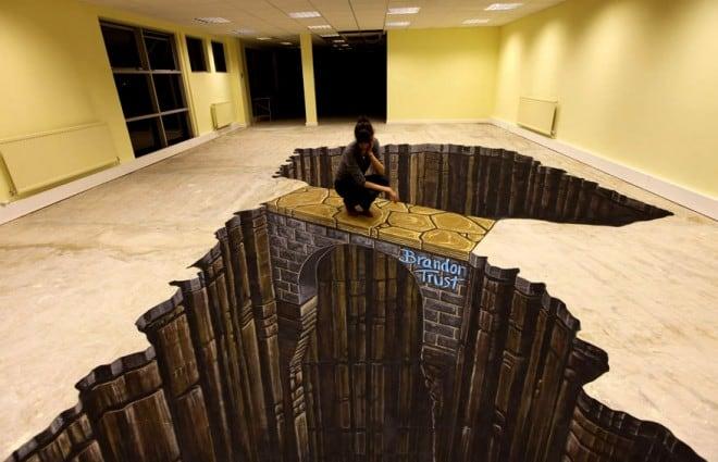 3D floor street art