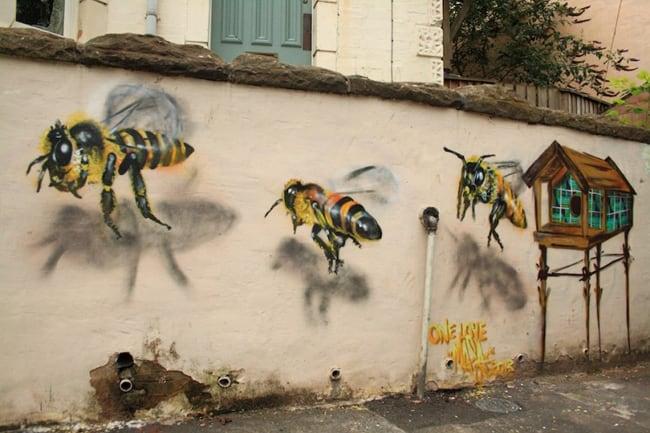 bees street art