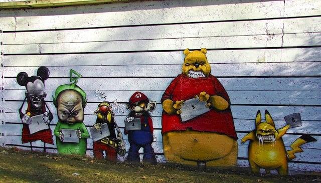 cartoon street art 1