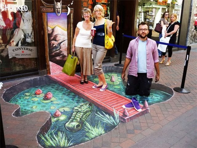 floor lake street art