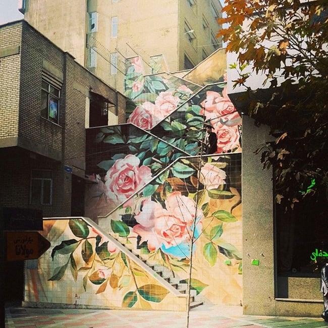 flowers street art