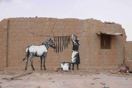 old horse street art