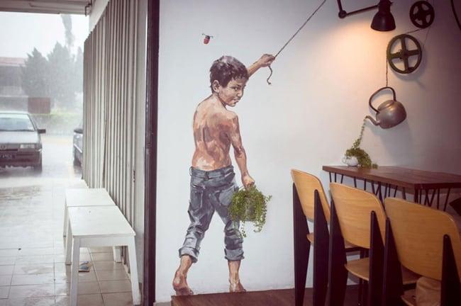 restuarant street art