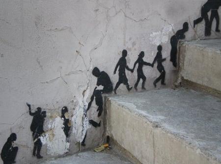 small men street art