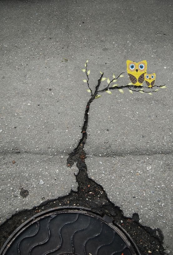 small street art floor