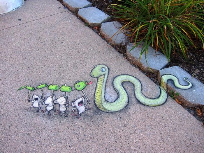 snake street art