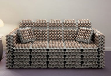 Flat pack egg sofa