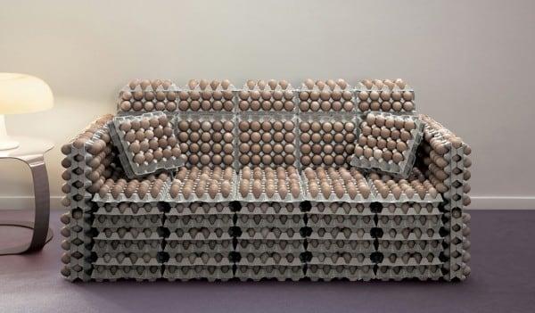 Flat pack egg sofa