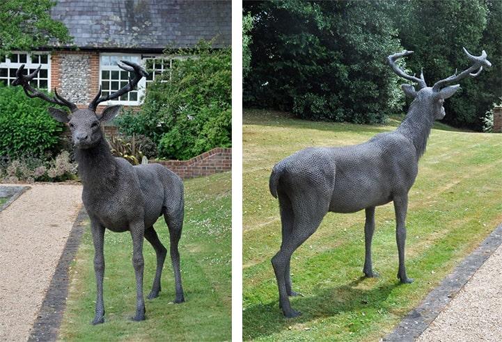 sculture animali filo metallo kendra haste 05