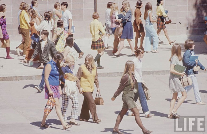 1969 hippie high school fashion photography 1