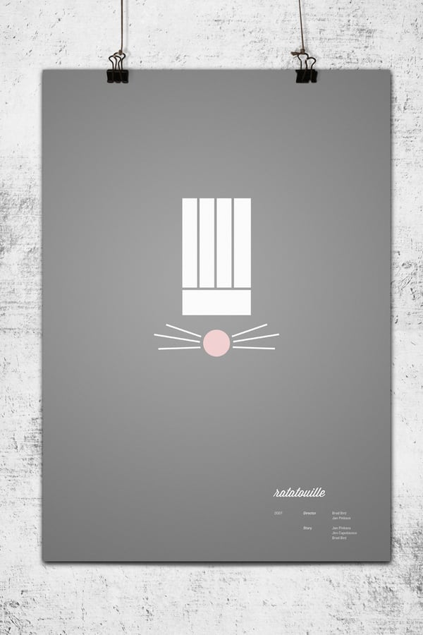 296e4 Pixar Minimalist Poster Ratatouille