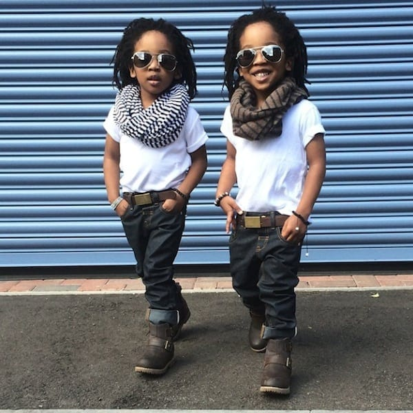 2YungKings Young Twin Brothers Dressed In Matching Dapper Outfits 2014 01