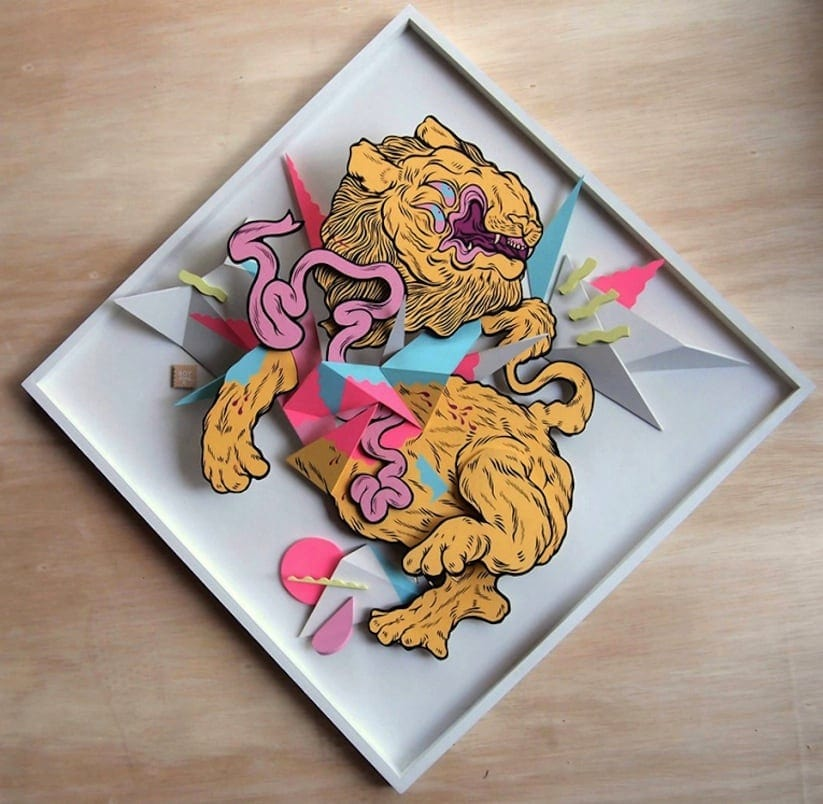 3 Dimensional Paintings by Boy Kong 2014 01