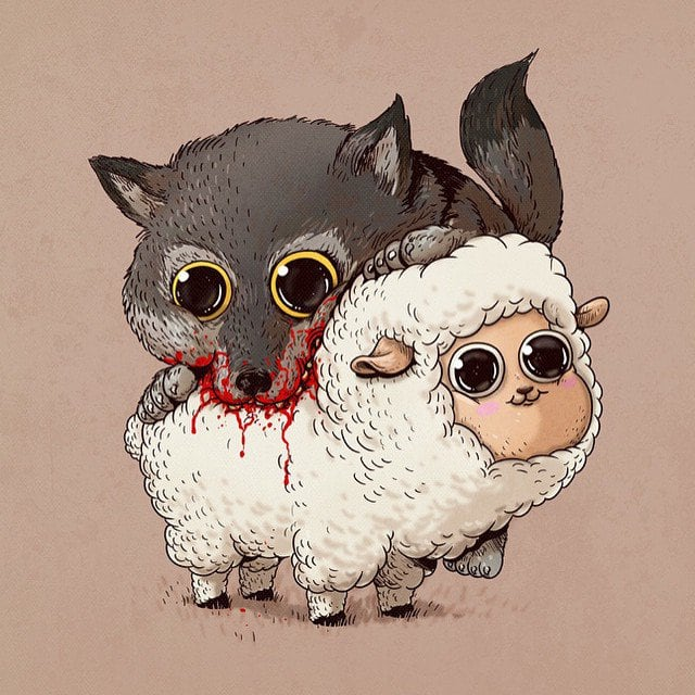 Alex Solis Adorable and Morbid Illustrations Of Predators 2
