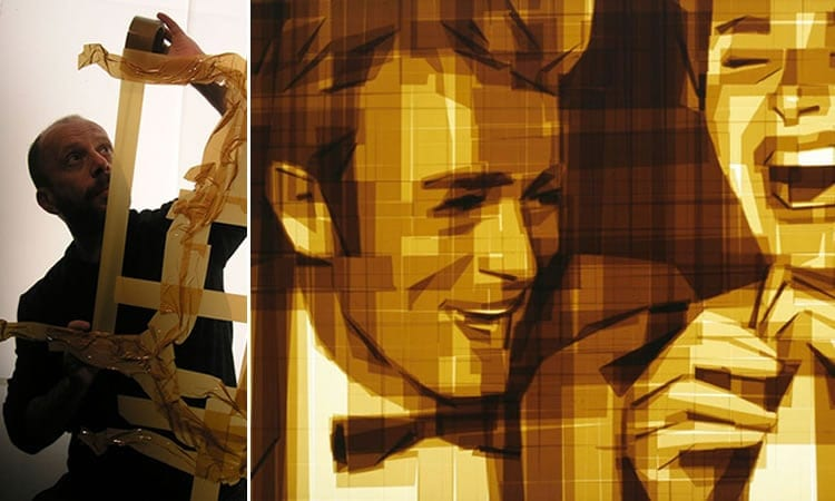 Amazing Graphic Arts Made With A Roll Of Packing Tape 1