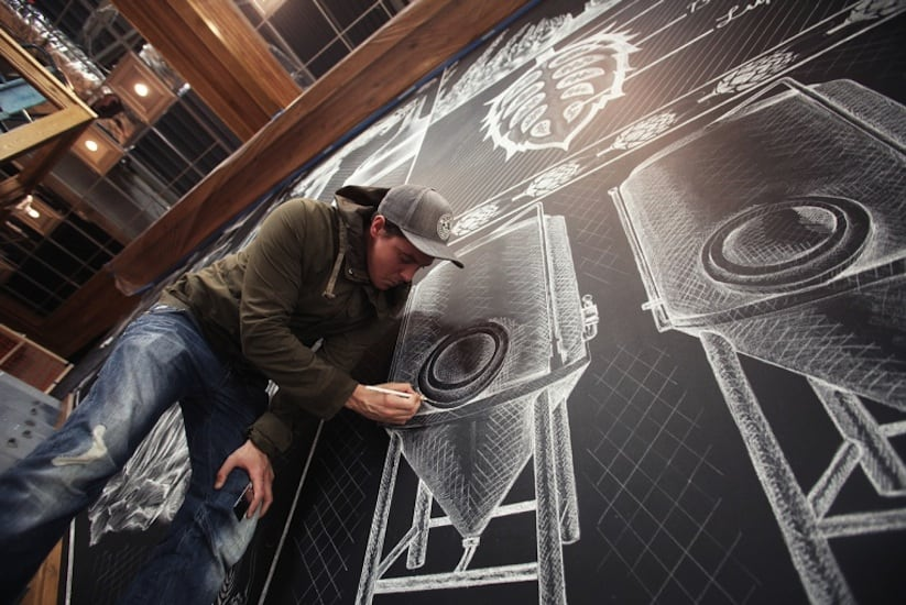 Amazing Chalk Mural At A Beer Brewery by Ben Johnston 2014 02