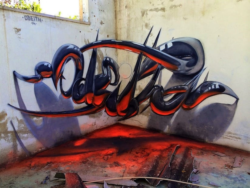 Anamorphic Graffiti Artworks by Odeith 2014 01