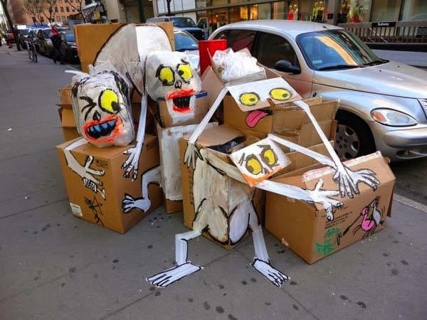 Art is Trah Unsightly Garbage Transformed Into Quirky Characters 2014 01