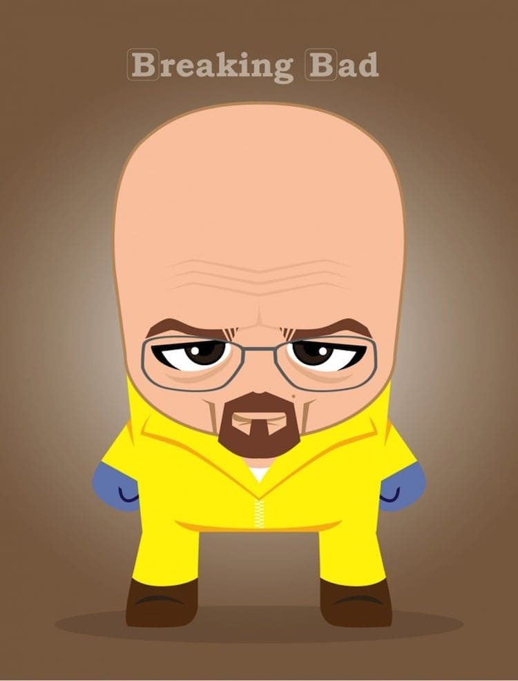 Big Heads Illustrated Characters From Famous Movies  and TV Series 2014 01