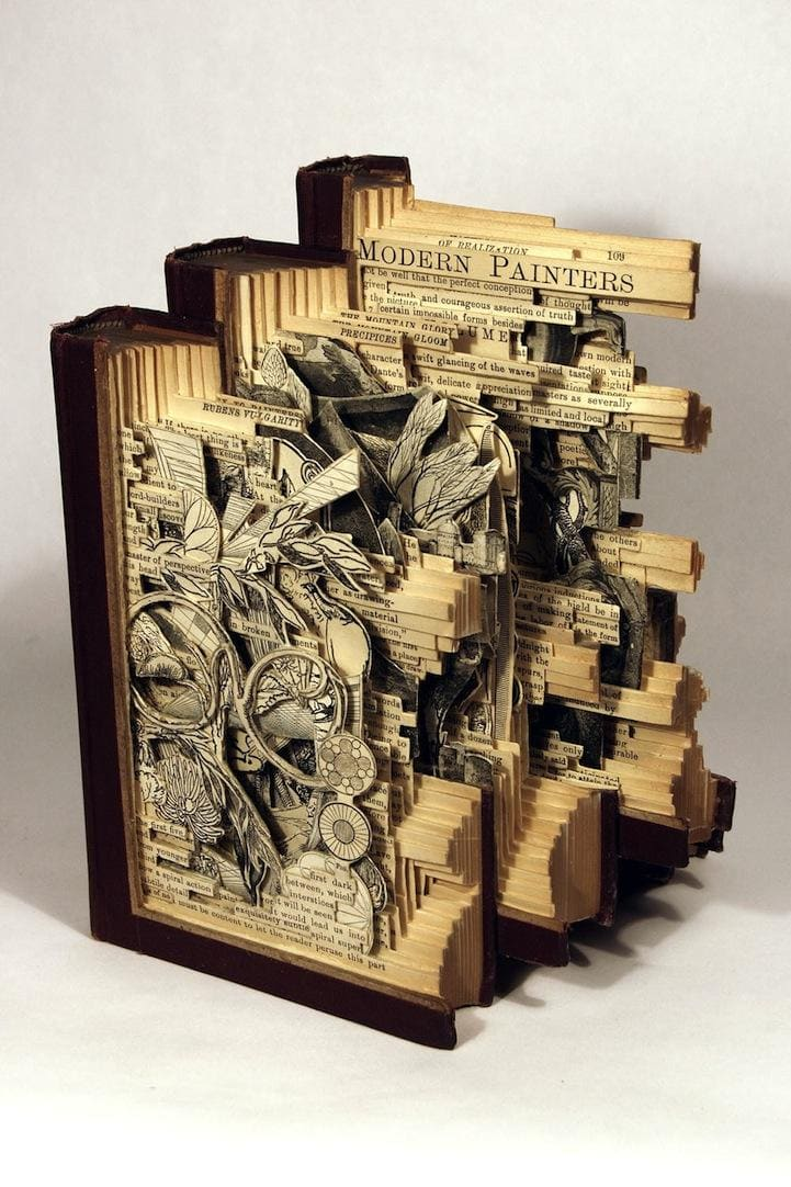 Brian Dettmer book carvings