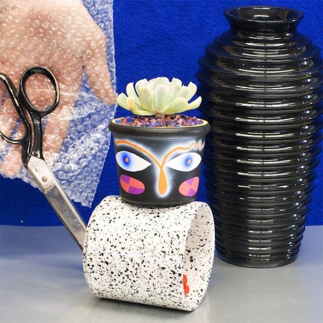 Crazy Faces Ceramic Vases 1