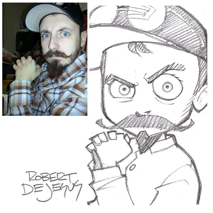 Creative Artist Robert DeJesus Turns Strangers Photographs Into Anime Inspired Sketches 2014 01