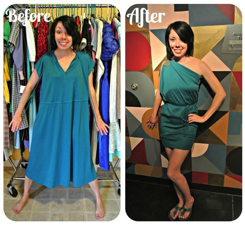 Jillian Owens Turns Frumpy Second Hand Clothes Into Elegant Dresses 2014 01