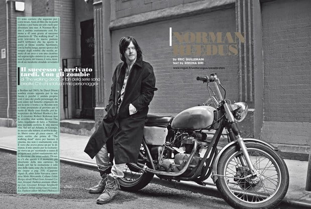 Norman Reedus LUomo Vogue Eric Guillemain 01