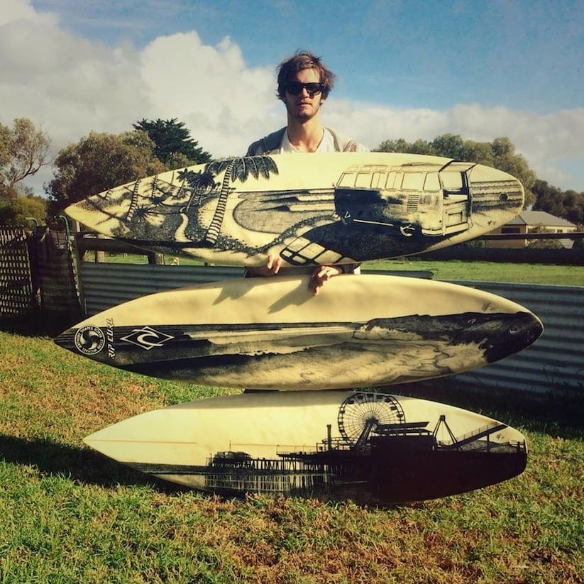Old Retired Surfboards Get a New Life as Artworks by Jarryn Dower 2014 01