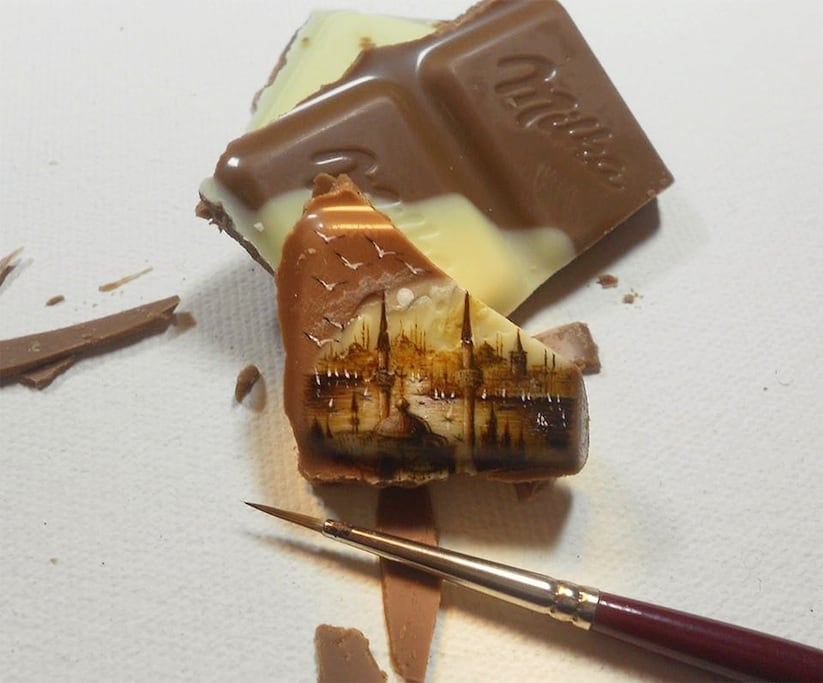Paintings Made On Incredibly Tiny Surfaces 2014 01