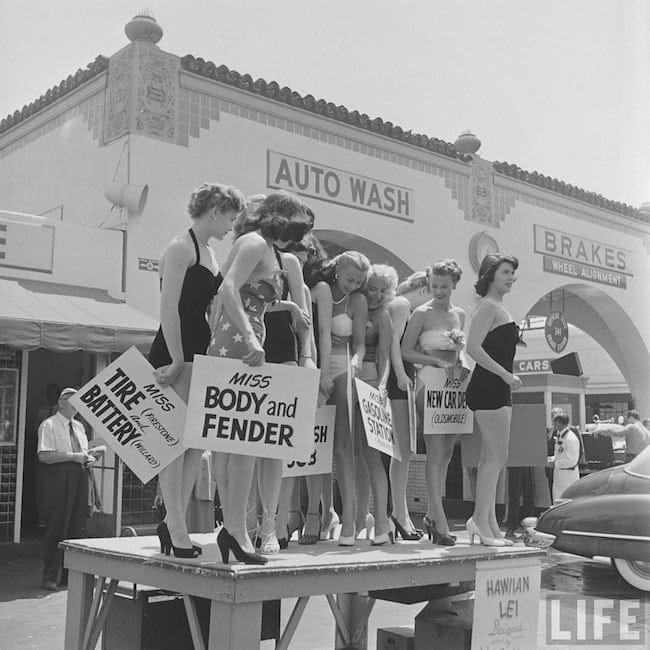 Photography vintage 1950 carwash 01