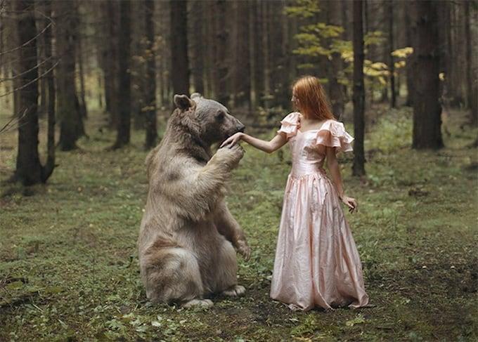 Photos with Real Animals by Katerina Plotnikova 1