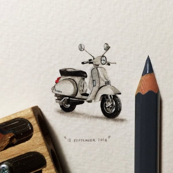 Postcards for Ants Miniature Watercolor Paintings by Lorraine Loots 2014 01