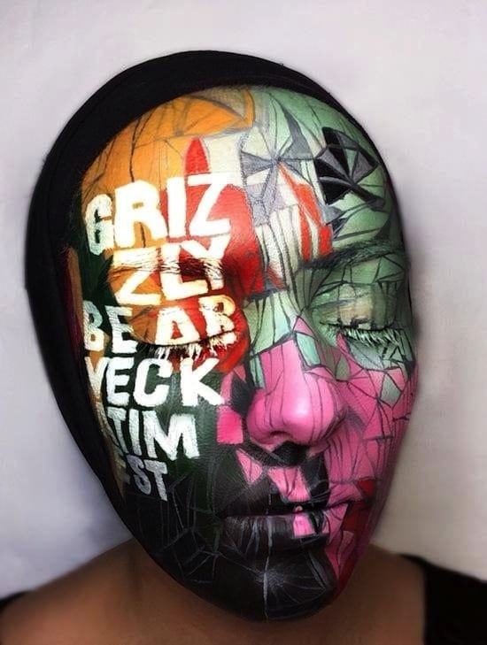 Record Store Day Face Paint Tribute by Natalie Sharp 2014 01