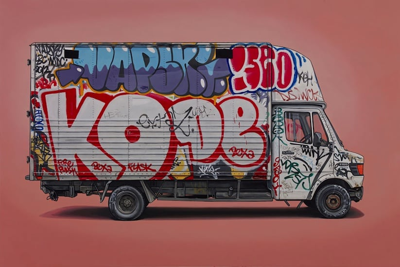 Right Place Right Time Van Vehicle Paintings by Kevin Cyr 2014 01
