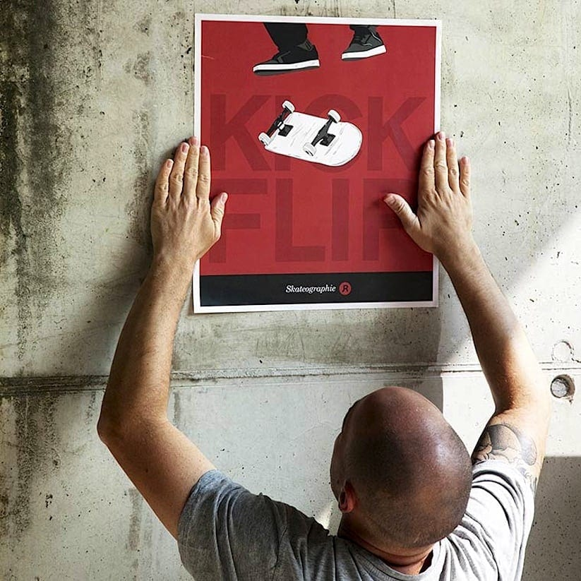 Skateografie Skateboarding Tricks Illustrated by French Artist John Rebaud 2014 01
