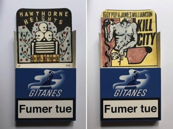 Smoke Signals Drawings on Gitanes Cigarette Packs by Leo Dorfner 2014 01