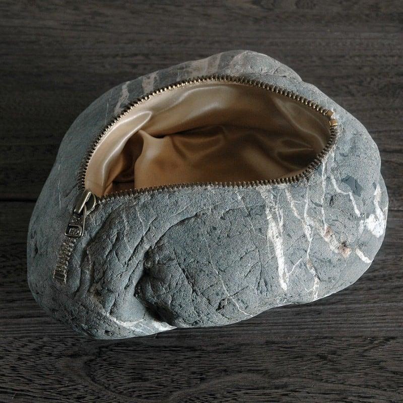 Stone bag by jiyuseki