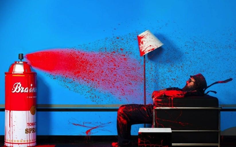 Streetartist Mr Brainwash Portrayed by Photographer Gavin Bond 2014 01