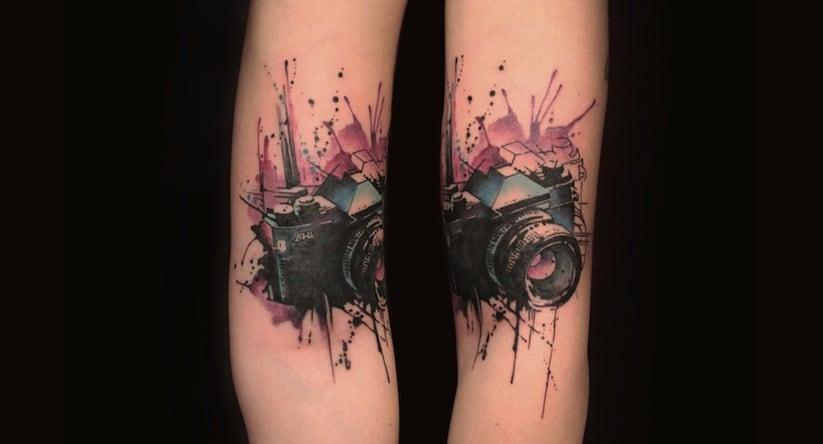 Thrilling Tattoos inspired by Streetart Stencils Watercolor Art 2014 01