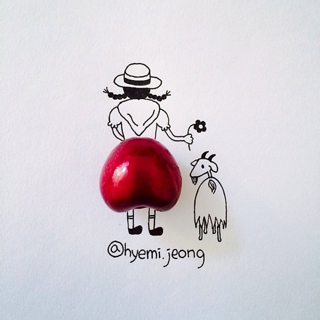 Witty Illustrations Created Around Everyday Household Objects by Hyemi Jeong 2014 01