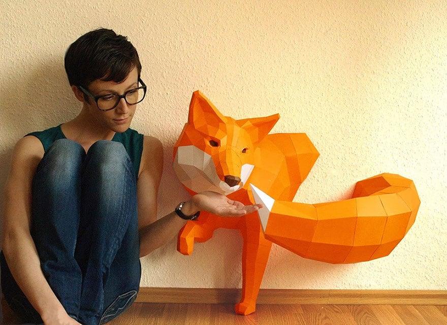 Wolfram Kampffmeyer DIY Paper Animal Sculptures 1