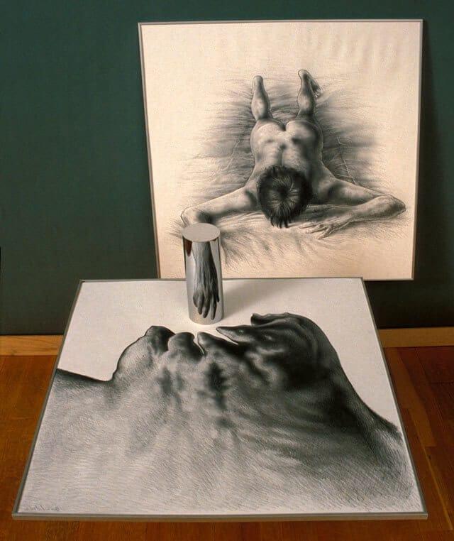 anamorphic art by istvan orosz 1